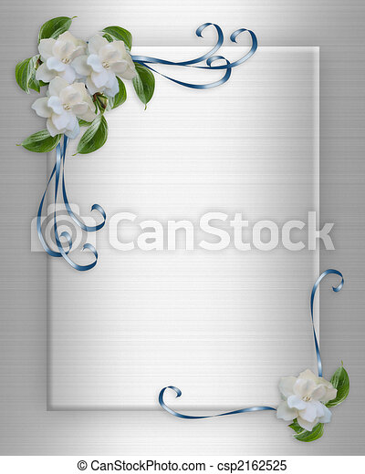Wedding Invitation border Gardenias - csp2162525