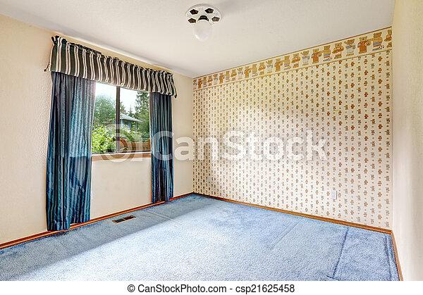 Stock im genes de brigh vac o habitaci n azul cortinas for Cuarto piso pelicula