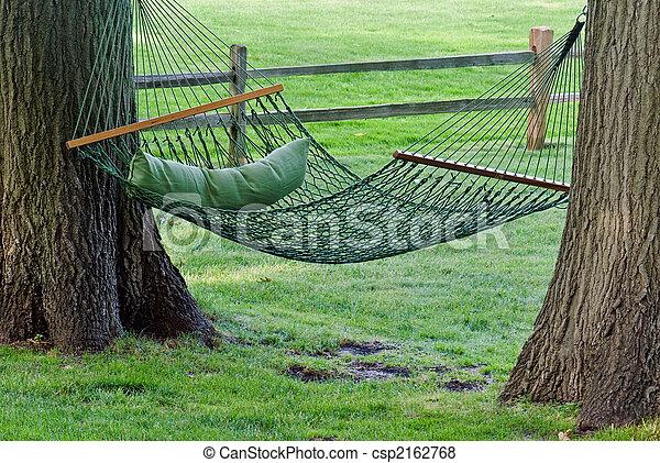 Pictures of Hanging Hammock - Backyard hammock between two ...
