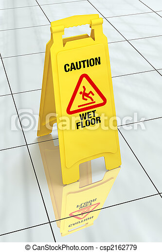 """Caution - Wet Floor\"" Sign - csp2162779"