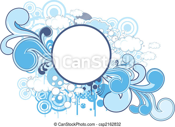 funky round frame - csp2162832