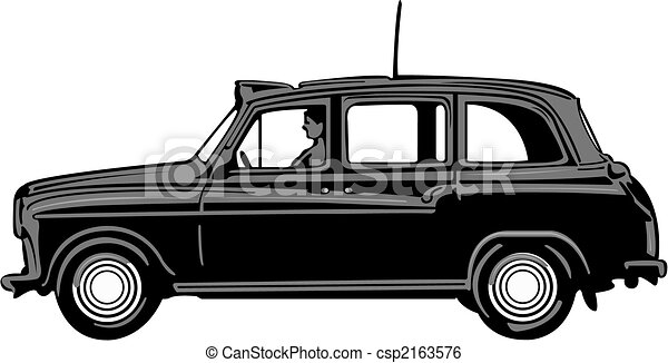 London Black Cab Drawing Black Cab Vector Black Cab