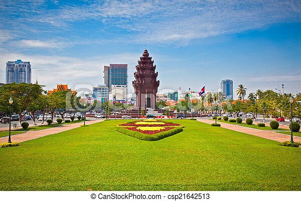 Independence Monument (Vimean Ekareach) in Phnom Penh, Cambodia .