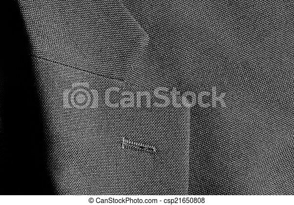 Detail of Suit Jacket Lapel