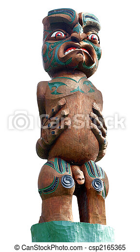 Carved Maori Warrior - csp2165365