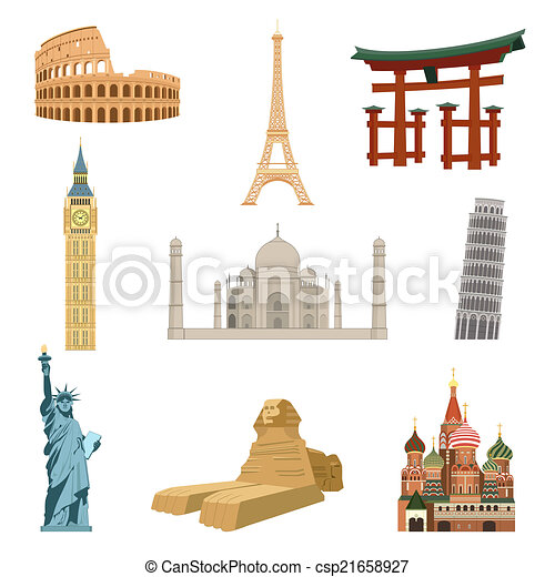 World Famous Clipart World Famous Landmarks Clip