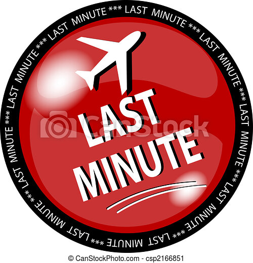 red last minute button - csp2166851