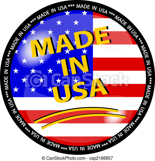 made in usa button - csp2166857