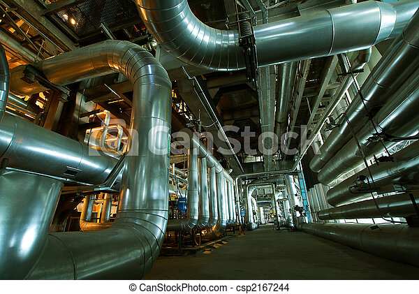 interior of water treatment plant - csp2167244