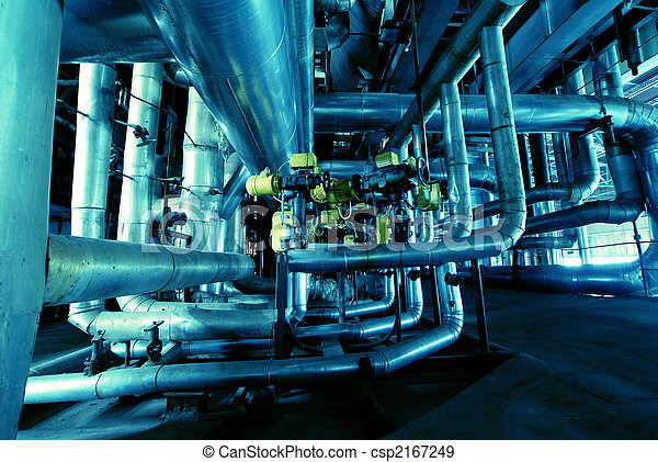 interior of water treatment plant - csp2167249