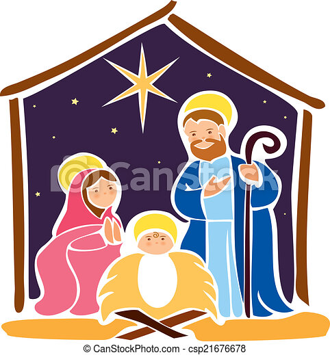 Clipart Jesus In Manger