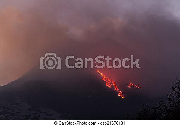 Lava flow - csp21678131