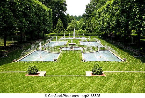 A Italian garden design in a botanical garden - csp2168525