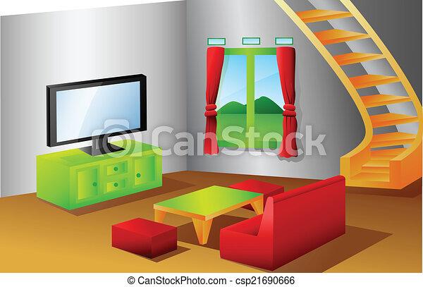 Interior Living Room Clip Art