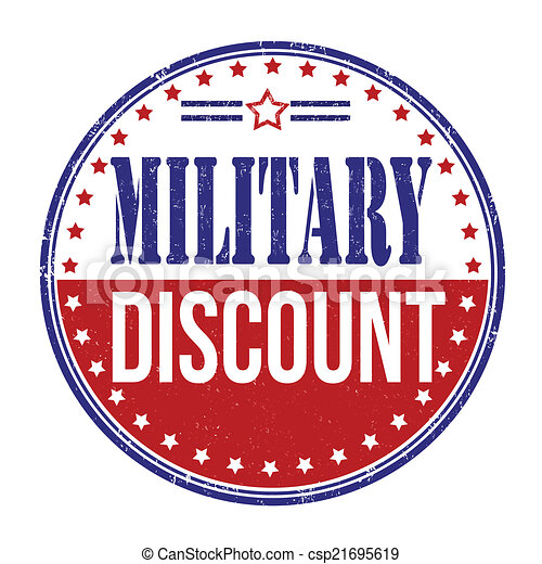 Vector Clip Art of Military discount stamp - Military discount ...