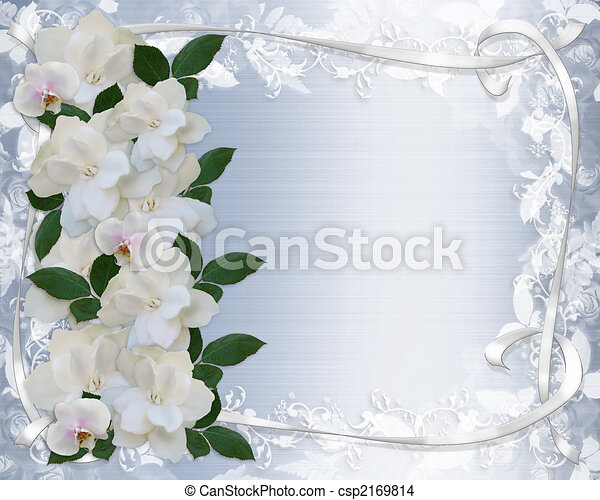 Gardenias And Lace Wedding Invitation - csp2169814