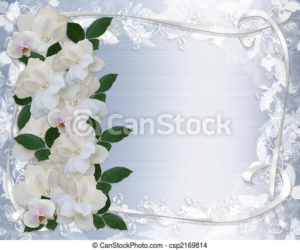 Gardenias And Lace Wedding Invitation - csp2169814