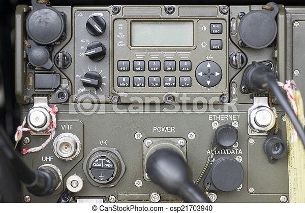 Military communication control pane
