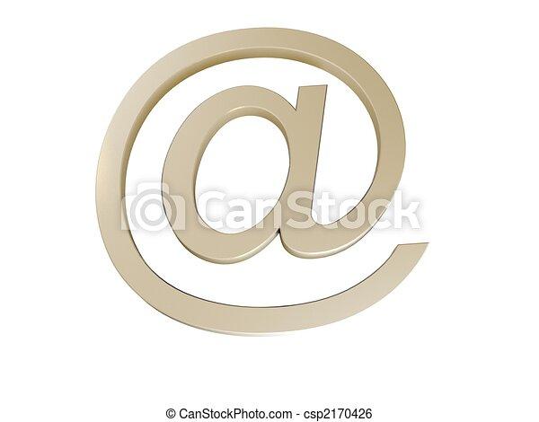 E-mail blue sign - csp2170426