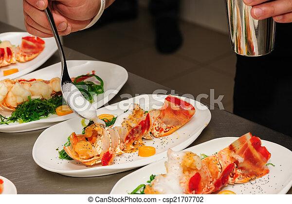 Photographies de d corer cuit homard plaque d corer - Comment cuisiner le homard cuit surgele ...