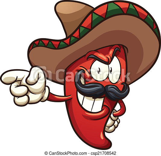 Mexican pepper. Vector clip art... csp21708542 - Search Clip Art ...