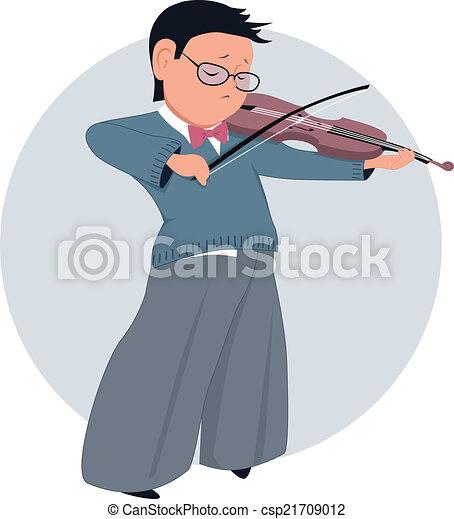 Boy Playing Violin Drawing Little Boy Playing Violin