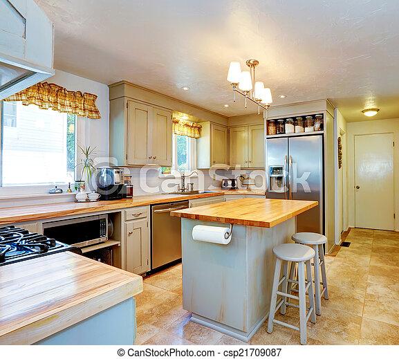Plaatjes Van Amerikaan Woning Interieur Keuken Eiland