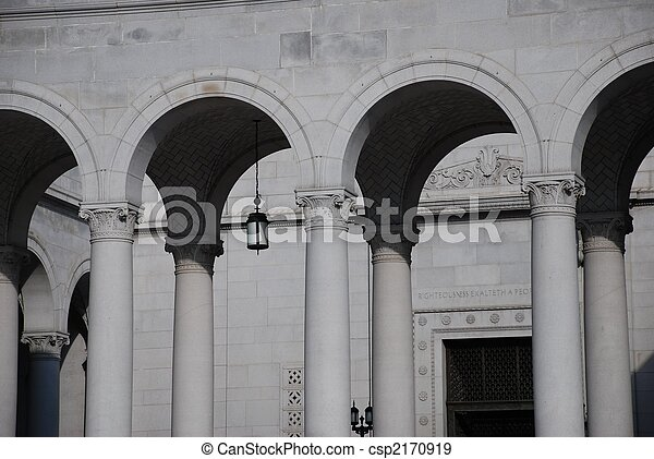 Row of Neo-classical Arches - csp2170919