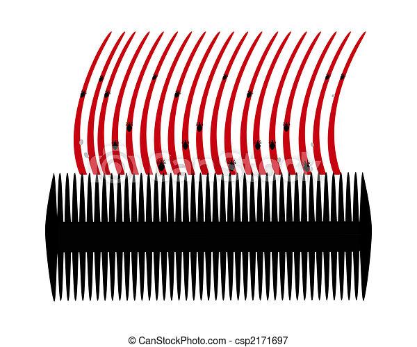 stock illustrationen von nits l use haar hintergrund. Black Bedroom Furniture Sets. Home Design Ideas