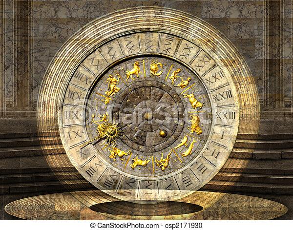 Venetian Clock - csp2171930
