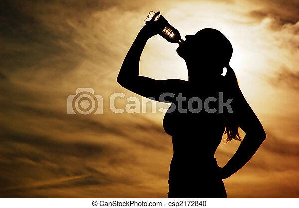 Sunset Thirst - csp2172840