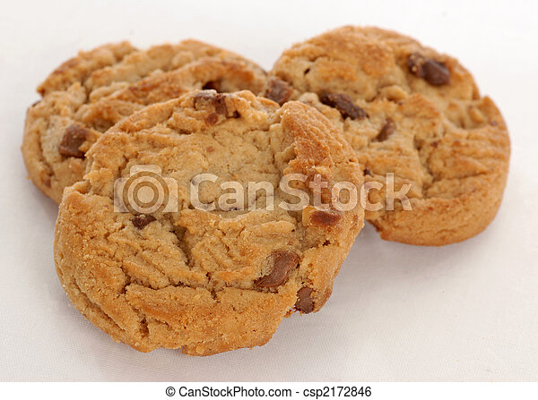 peanut butter chocolate chip cookies - csp2172846