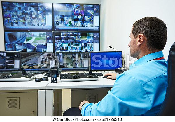 セキュリティー, ビデオ, 監視 - csp21729310