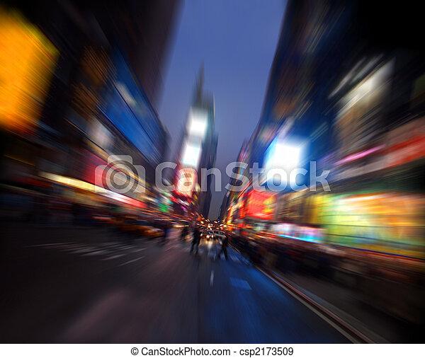Times square, Manhattan, New York - csp2173509