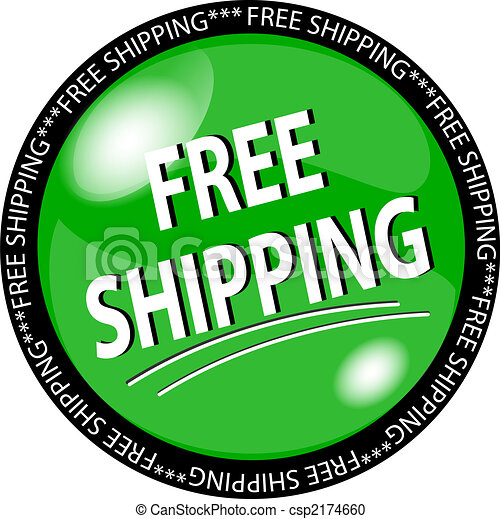 green free shipping button - csp2174660