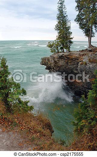 Lake Michigan Waves Along Coast - csp2175555