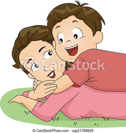 Ilustraciones de Vectores de Abrazo, mamá, hijo - Ilustración, de ...