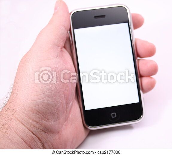 Modern touch screen phone White screen - csp2177000