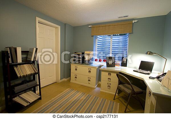 Stock fotografie van thuis kantoor afsluiten op op een thuis kantoor csp2177131 - Thuis kantoor ...