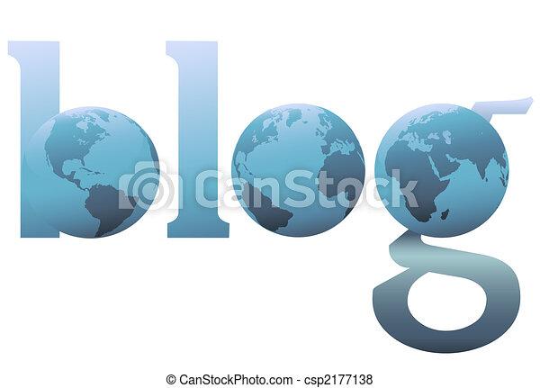 BLOG Flat and 3D blogger speech bubble balloon copyspace - csp2177138