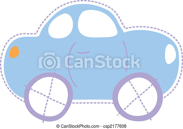 childhood little car - csp2177608