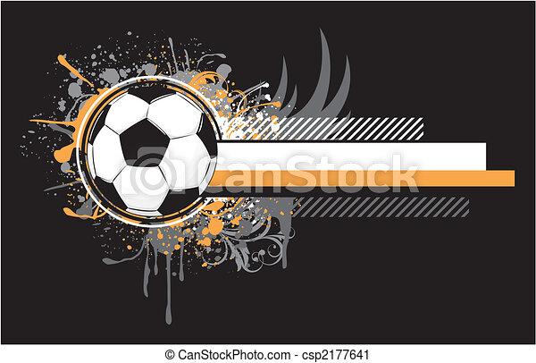 grunge soccer design - csp2177641