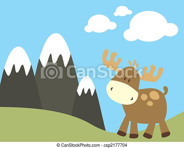 childish moose in nature - csp2177704