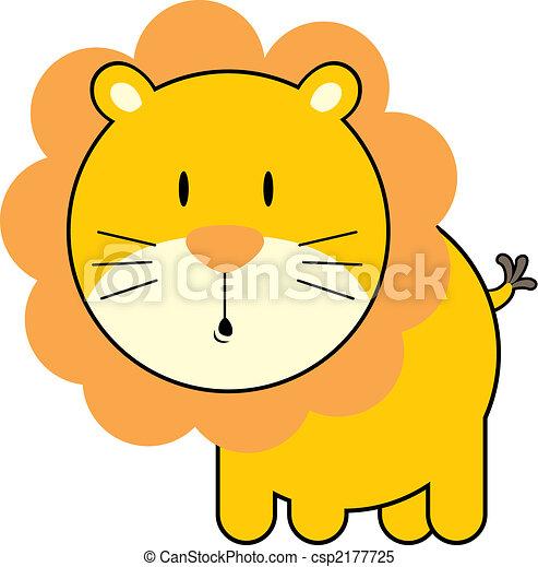 cute baby lion - csp2177725