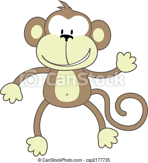 Monkey Clipart Vector Vector Greeting Monkey
