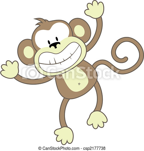 smiling monkey - csp2177738