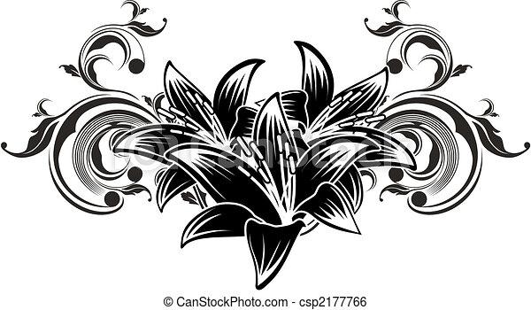 ornamental flowers design - csp2177766