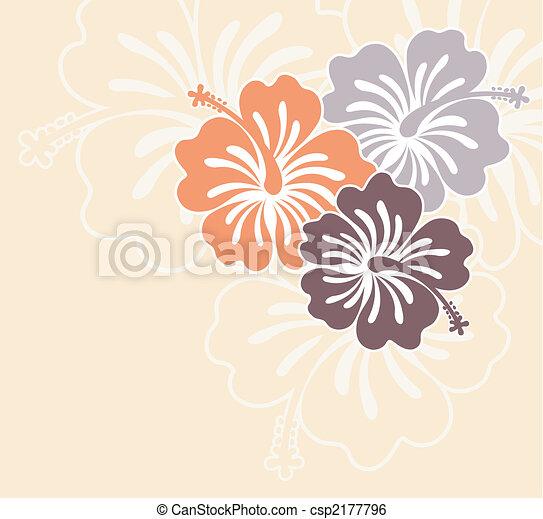 Island Flowers Drawings Vector Island Flowers