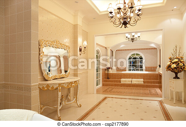 Stock fotografie von badezimmer meister luxus modern zeitgen ssisch stil csp2177890 - Design badezimmer luxus ...