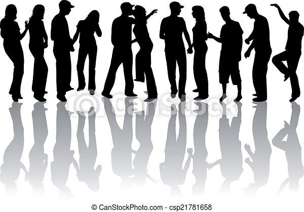 Family silhouettes - csp21781658